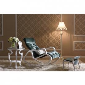 Деревянное кресло-качалка Gordica M308 (white-green)