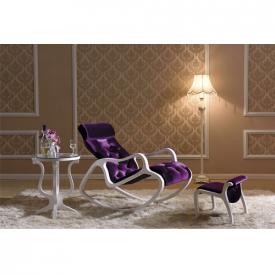 Деревянное кресло-качалка Gordica M308 (white-violet)