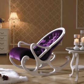 Деревянное кресло-качалка Mobilica M318 (white-violet)