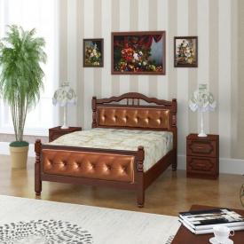Двуспальная кровать Карина-11 в цвете орех