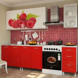 Красочная мебель для кухни Малина