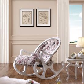 Деревянное кресло-качалка Mobilica M318 (white-mayflower)