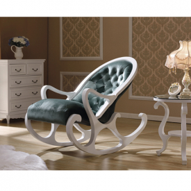 Деревянное кресло-качалка Mobilica M318 (white-green)