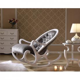 Деревянное кресло-качалка Mobilica M318 (white-grey)