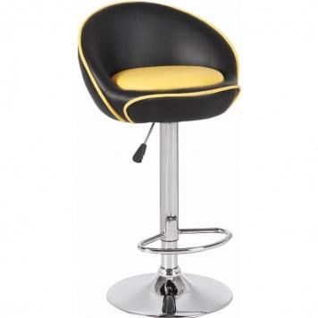 Барный стул Marple черно-жёлтый