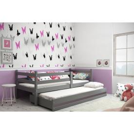 Кровать выдвижная для двоих Eryk Graphite