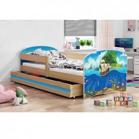 Детская кровать с ящиком Luki Pine