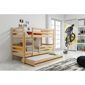 Кровать для детей трехъярусная Eryk Pine