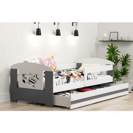 Детская кровать с ящиками Filip Grafit
