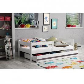Детская мягкая кровать Hugo White