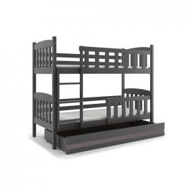 Кровать деревянная двухъярусная Kubus Graphite