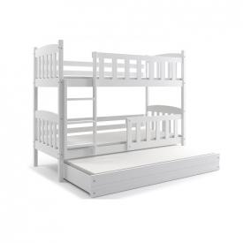 Кровать трехъярусная детская Kubus White