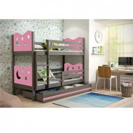 Кровать двухъярусная с ящиками Max Graphite