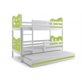 Кровать трехъярусная детская Max White