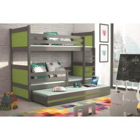 Двухъярусная кровать для детей Rico Graphite