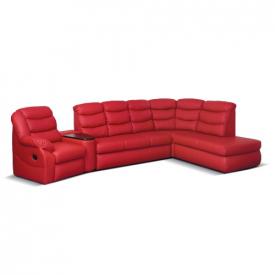 Красный кожаный диван Stella IV