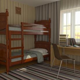 Кровать двухъярусная деревянная Валерия